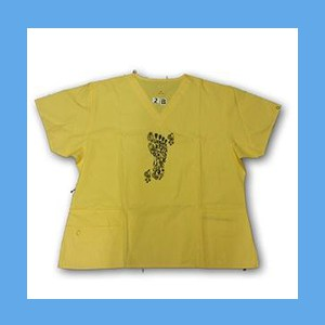 Wonder Wink Scrub Top Henna Tattoes Yellow OVERSTOCK Scrubs Top Henna Tattoes Yellow