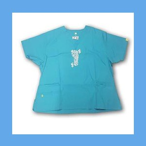 Wonder Wink Scrub Top Henna Tattoes Real Teal OVERSTOCK Scrubs Top Henna Tattoes Real Teal