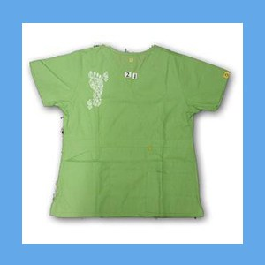 Wonder Wink Scrub Top Henna Tattoes Green Apple OVERSTOCK Scrubs Top Henna Tattoes Green Apple