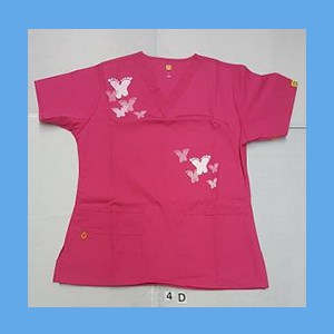 Wonder Wink Scrub Top Artsy Arch Butterfly Hot Pink OVERSTOCK Scrubs Top Artsy Arch Butterfly Hot Pink
