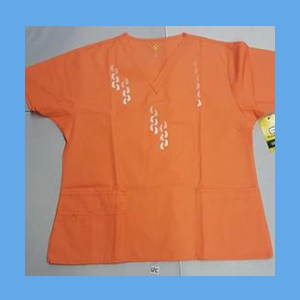 Wonder Wink Scrub Top Neo Matrix II Orange Sherbert OVERSTOCK Scrubs Top Neo Matrix II Orange Sherbert