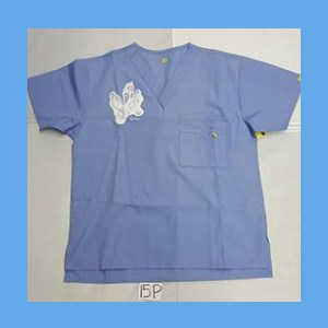 Wonder Wink Scrub Top Sole Mates Ceil Blue (SMALL) OVERSTOCK Scrubs Top Sole Mates Ceil Blue