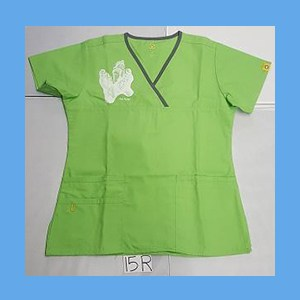Wonder Wink Scrub Top Sole Mates Green Apple (SMALL) OVERSTOCK Scrubs Top Sole Mates Green Apple