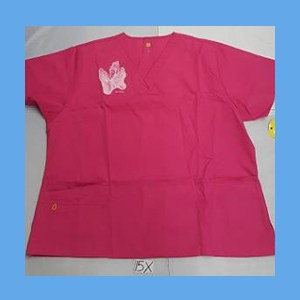 Wonder Wink Scrub Top Sole Mates Hot Pink OVERSTOCK Scrubs Top Sole Mates Hot Pink