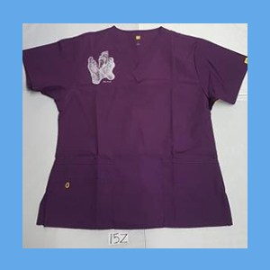 Wonder Wink Scrub Top Sole Mates Eggplant OVERSTOCK (LARGE) Scrubs Top Sole Mates Eggplant