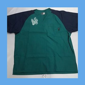 Wonder Wink Scrub Top Sole Mates Hunter/Navy OVERSTOCK (LARGE) Scrub Top Sole Mates Hunter/Navy