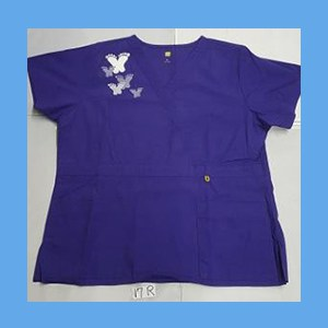 Wonder Wink Scrub Top Artsy Arch Butterfly Grape OVERSTOCK Scrubs Top Artsy Arch Butterfly Grape