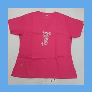 Wonder Wink Scrub Top Henna Tattoes Hot Pink OVERSTOCK Scrubs Top Henna Tattoes Hot Pink