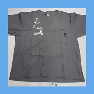 Wonder Wink Scrub Top Heel to Toe Pewter OVERSTOCK (EXTRA LARGE) Scrub Top Heel to Toe Pewter