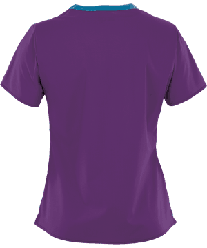 Wonder Wink Scrub Top Wonder Flex V-Neck Electric Violet (2XL) OVERSTOCK WONDERWINK WONDERFLEX VERITY V-NECK TOP IN ELECTRIC VIOLET