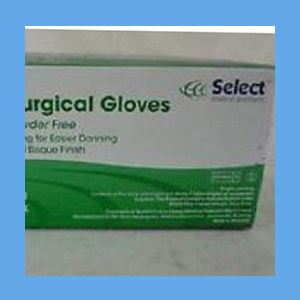 Select Sterile Latex Surgical Gloves, Powder-Free  gloves, sterile, latex