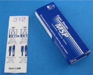 Chisel Blade #312 SS Flat Edge Disposable  chisel blades, carbon steel, sterile, surgical blades