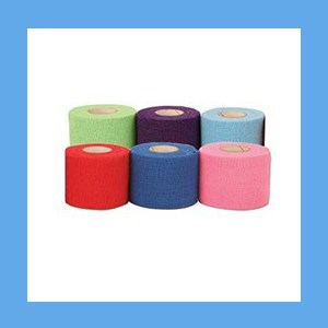 "Latex Free CoFlex Bandage Assorted Color Pack 2"" latex, bandage, cohesive, light compression wrap"