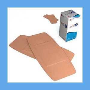 "Dynarex Adhesive Fabric Bandages 2"" x 4-1/2"" bandage strips, flexible, fabric, breathable, sterile, latex-free, Dynarex"