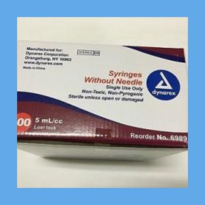 DYNAREX Syringes Luer Lock 5 cc syringes, dynarex disposable, polycarbonate