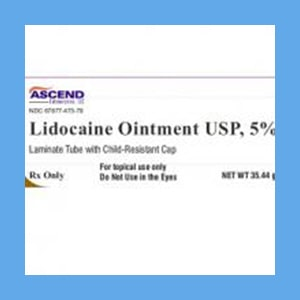 Lidocaine Ointment 5% 1-1/4oz Tube  anesthetic, ointment, Lidocaine, topical