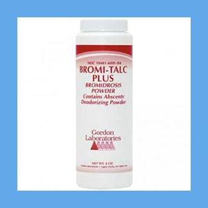Gordon's Bromi Talc Plus Foot Powder 4oz. Bromi talc