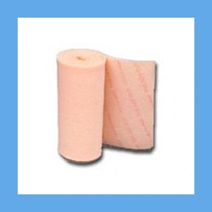 "Polymem Quadrafoam Non-Adhesive Roll 4""x 24"" #5244 - 4rl/bx dressing, cloth-backed, Polymem, Quadrafoam, healing"