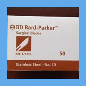 Bard-Parker Stainless Steel Sterile Surgical Blades #10 surgical blades, Bard-Parker