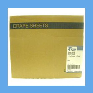 "Disposable Drape Sheets, Plastic Lined, 30"" x 48"" drape sheets, plastic lined, disposable"