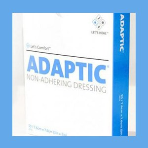 "ADAPTIC Non-Adhering Dressing | 3"" x 3"" dressing, non-adhering, porous, protect wound, Adaptic"