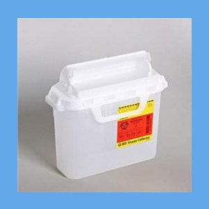 BD Sharps Collector 5.4Qt. CLEAR BD Sharps Collector 5.4Qt. CLEAR