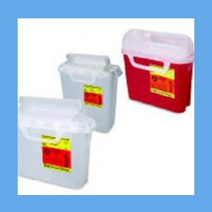 BD Guardian Sharps  Pearl, Side Entry Container 5.4Qt.  BD Sharps Collector 5.4Qt.