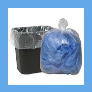 "Ultra Plus Trash Liners 7-10 Gal 24x24"" Clear  Liner Can"